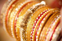 Decorative bridal bangles Royalty Free Stock Photos