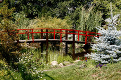 A decorative bridge in the Park. Stock Photography