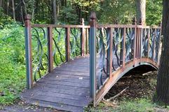 Decorative bridge in the park. background. Stock Photos