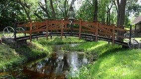 Decorative bridge stock video