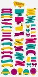 Decorative Bright Design Elements Set Stock Photo