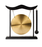 Decorative bronze gong Stock Image