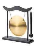 Decorative bronze gong Royalty Free Stock Photography