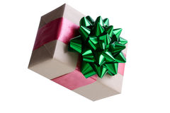 Decorative brown paper wrapped Christmas gift Royalty Free Stock Photos