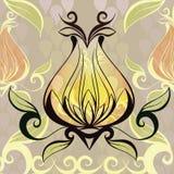 Decorative bud. Vector illustration Royalty Free Stock Photos
