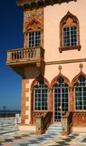 Decorative building facade stock image