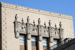Decorative building facade. Decorative facade and cornice on a building Royalty Free Stock Photography