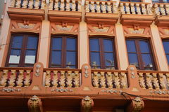 A Decorative Building Facade Royalty Free Stock Photos