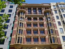 Decorative building with ornamental balconies Stock Image