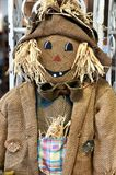 Burlap scarecrow decoration royalty free stock photography