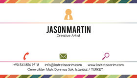 Decorative business card Royalty Free Stock Photography