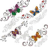 Decorative Butterflies. Stock Image