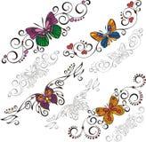 Decorative Butterflies. Stock Image