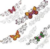 Decorative Butterflies. Royalty Free Stock Images