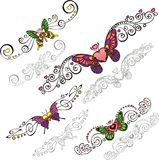 Decorative Butterflies. Stock Images