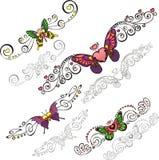 Decorative Butterflies. Stock Images