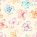 Decorative Butterflies And Flowers Stock Image