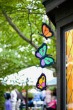 Decorative Butterflies. Hang from a house Stock Images
