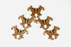 Decorative Butterflies in Traditional Bird Flying Formation Royalty Free Stock Photos
