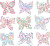 Decorative butterflies vector illustration