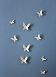Decorative butterflies on the wall of a children`s room. Original photo Royalty Free Stock Image