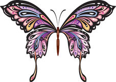 Decorative butterfly. Decorative colored butterfly. Vector illustration Stock Photography