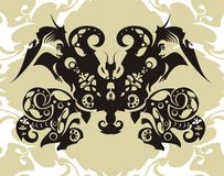 Decorative butterfly vector illustration