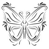 Decorative butterfly element tattoo Stock Photography