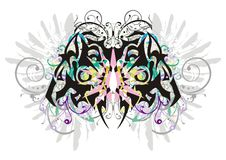 Decorative butterfly with gray eagle wings Stock Photo
