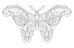 Decorative butterfly. Royalty Free Stock Photo