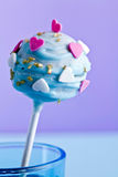 A decorative cakepop. A decorative cake pop maybe for valentine Stock Image