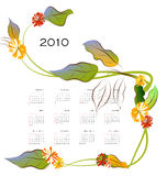 Decorative calendar Royalty Free Stock Image