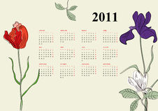 Decorative calendar for 2011. Template for decorative calendar for 2011 Stock Photography