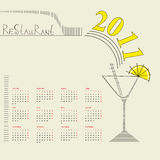 Decorative calendar 2011 Royalty Free Stock Photo