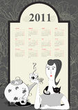 Decorative calendar for 2011 Stock Image
