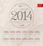 Decorative Calendar Of 2014 Stock Images
