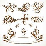 Decorative calligraphic flourishes Royalty Free Stock Photos