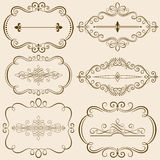 Decorative Calligraphic Frames III Stock Images