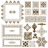 Decorative calligraphic ornate design elements Royalty Free Stock Photography