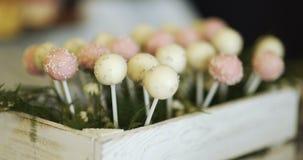 Decorative Candies on wedding stock footage