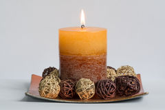 Decorative candle Royalty Free Stock Images