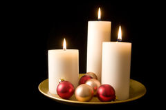 Decorative Candle Display Stock Image