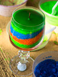 Decorative candle in a glass. Hand made decorative candle in a glass Stock Photography
