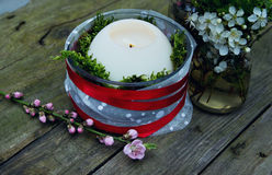 Decorative Candle Royalty Free Stock Photo