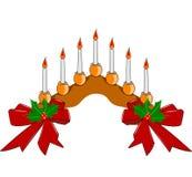 Decorative candle setting Stock Image