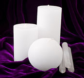 Decorative candles Royalty Free Stock Images