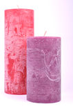 Decorative candles different colors Royalty Free Stock Photo