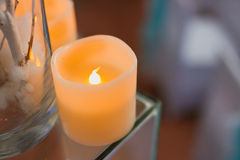 Decorative candles. In stand closeup Royalty Free Stock Image