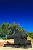 Decorative Cannon of Eternal Golden Castle Royalty Free Stock Photo