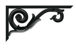 Decorative cantilever. A decorative element in the Empire style of cast iron vector illustration